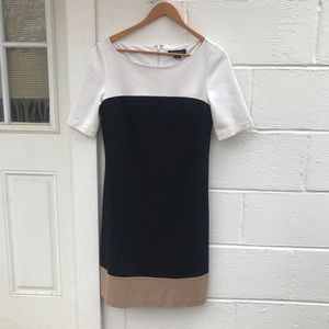 White House Black Market Color Block Shift Dress